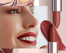 Mujer maquillada con productos Una